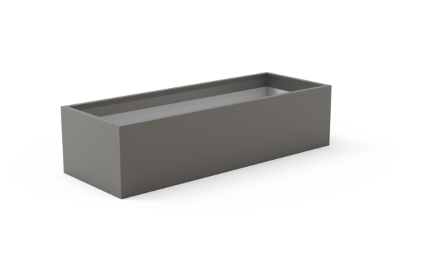 Tau Mesa Low Rectangular Fiberglass Planter 1695 Granite
