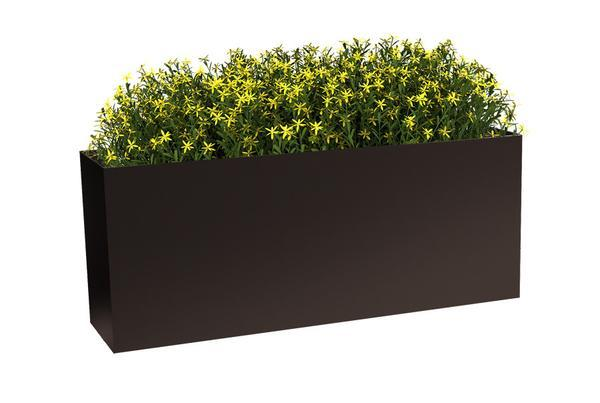 Modern Elite Low Rectangle Planter Suede Bronze