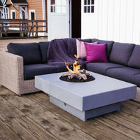 Modern Off Set Concrete Fire Table London Fog