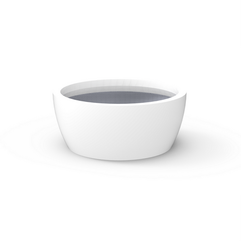 Tau Cratera Fiberglass Small Tapered Planter White 2720