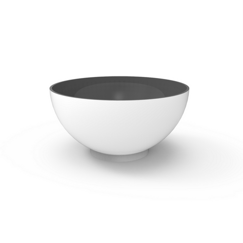 Tau Cratera Fiberglass Bowl Planter White 4535060