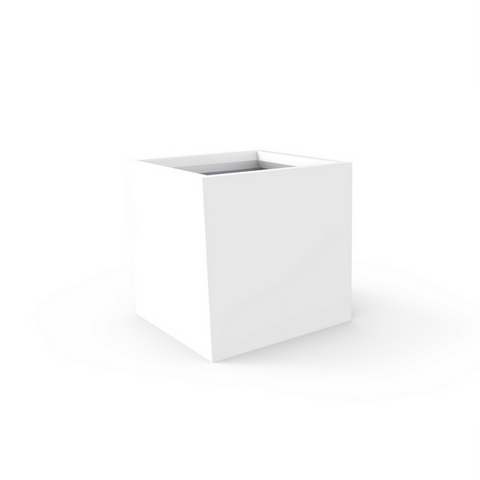 Tau Cubicae Tall Square Planter 5945 White