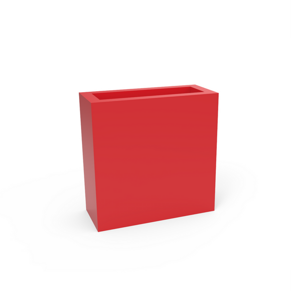 Tau Dividum Rectangular Fiberglass Planter 3530061 Fire Red