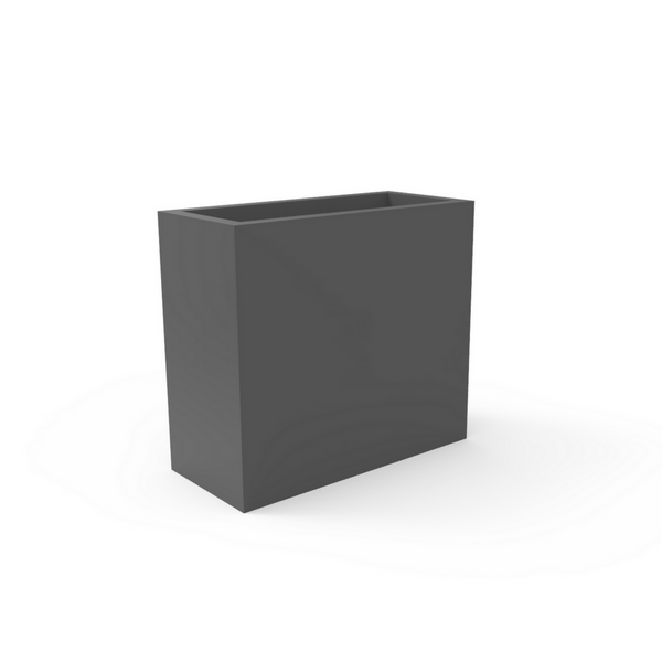 Tau Dividum Tall Rectangular Planter 8990091 Pewter