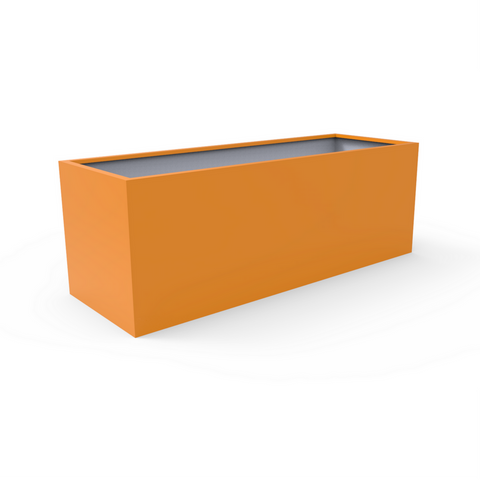 Tau Mesa Low Rectangular Fiberglass Planter 6230051 Sunset Orange