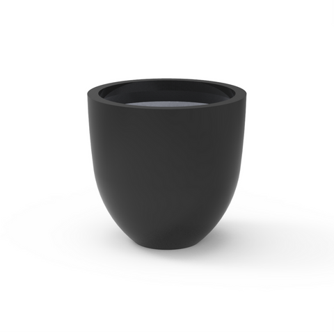 Tau Rotundra Tapered Round Planter 7560048 Black