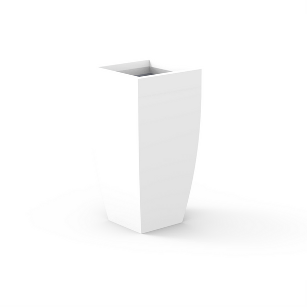 Tau Taperus Tall Tower Fiberglass Planter 9535046 White