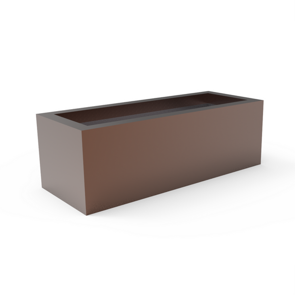 Tau Trogus Low Rectangular Planter Bronze Metallic 4175091