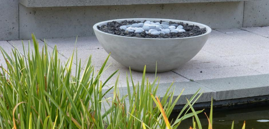Zen Fire Bowl, Fire Pit, Contemporary and Modern Fire Pit