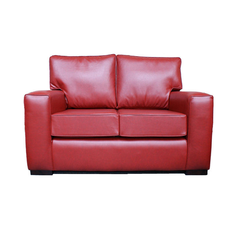Red Modern Loveseat