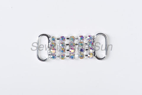 #790 Crystal AB in Silver