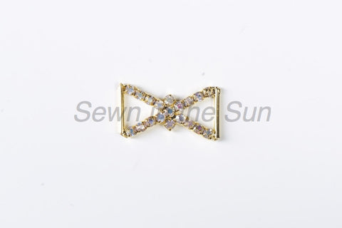 #042 Crystal AB in Gold