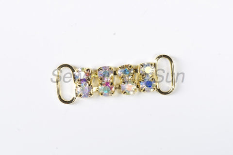 #613 Crystal AB in Gold