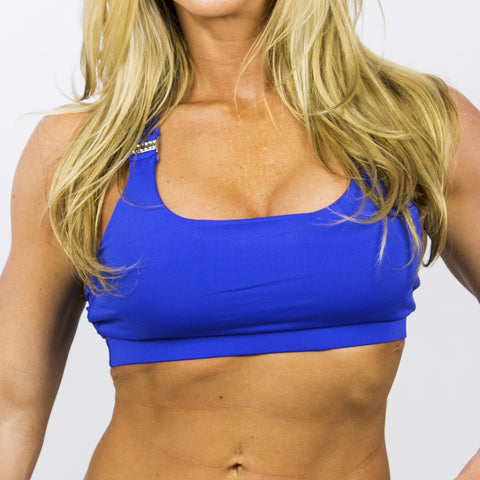 Sports Bra X-Back Blue
