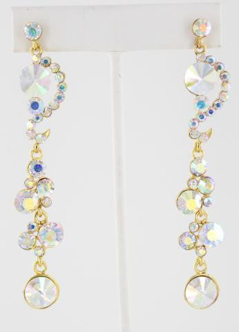 Crystal AB in Gold Earrings