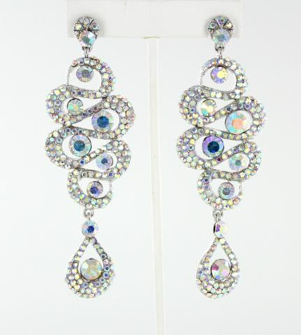 Crystal AB in Silver Earrings