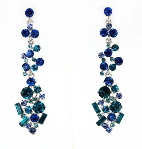 Sapphire & Blue Zircon Earrings