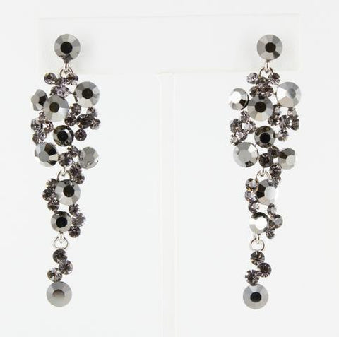 Gunmetal & Black Earrings