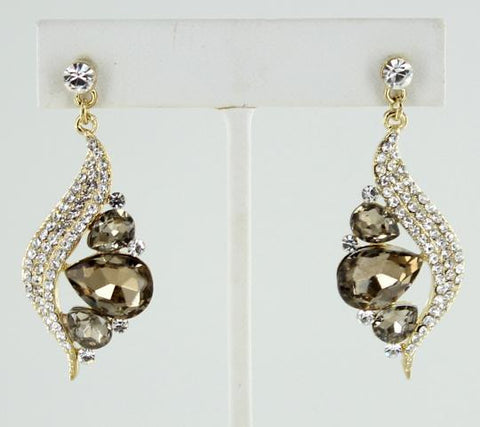 Crystal & Topaz Earrings