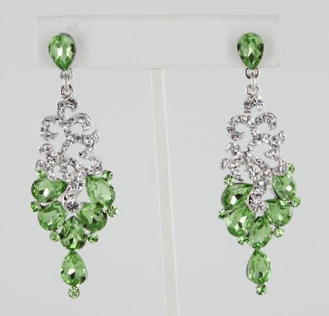 Peridot & Crystal in Silver