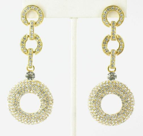 Crystal in Gold Earrings