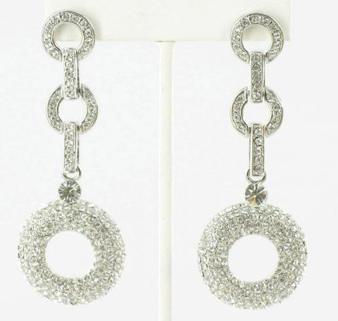 Crystal in Silver Earrings