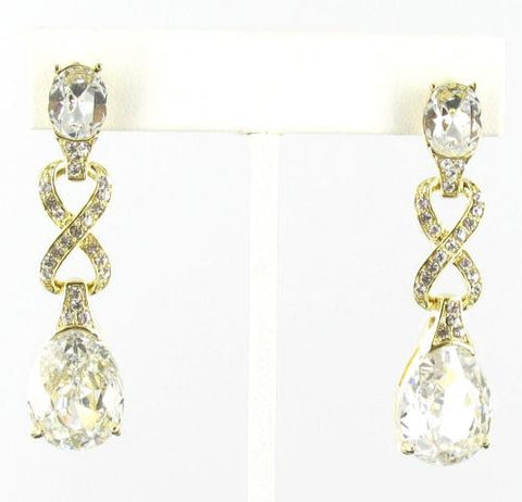 Elegant Crystal in Gold Earrings