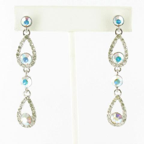Crystal & Crystal AB double drop in Silver