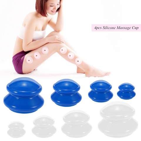 Image of 4Pcs Silicone Massage Cups