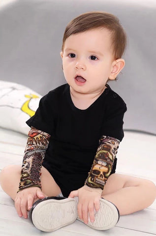 Image of Rebel Baby Tattoo Romper