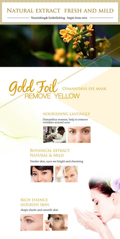 Gold Osmanthus Collagen Eye Mask