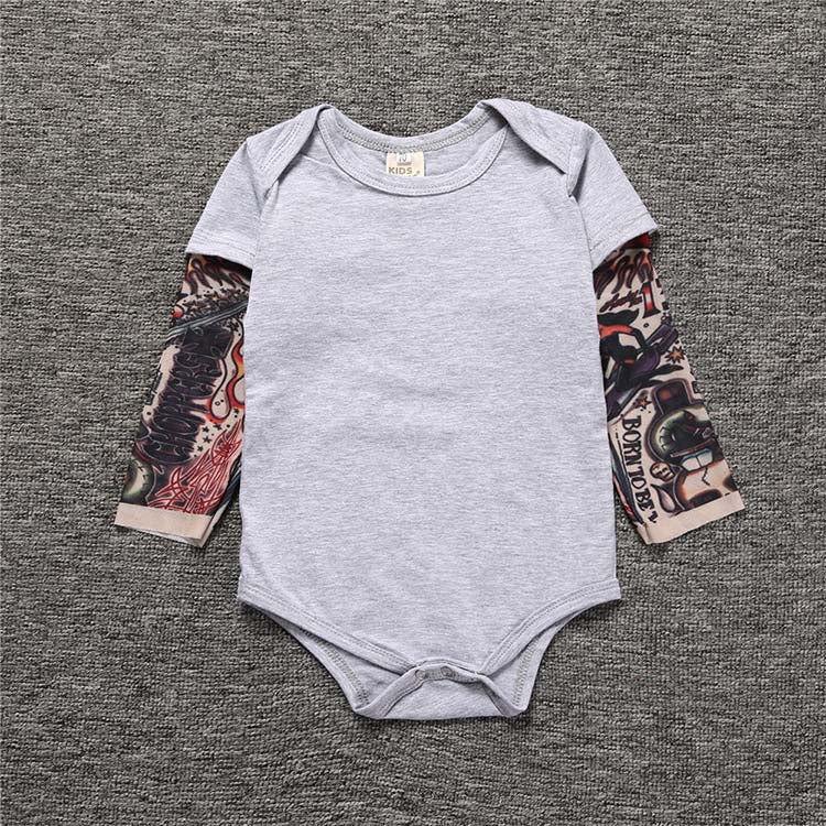 Rebel Baby Tattoo Romper