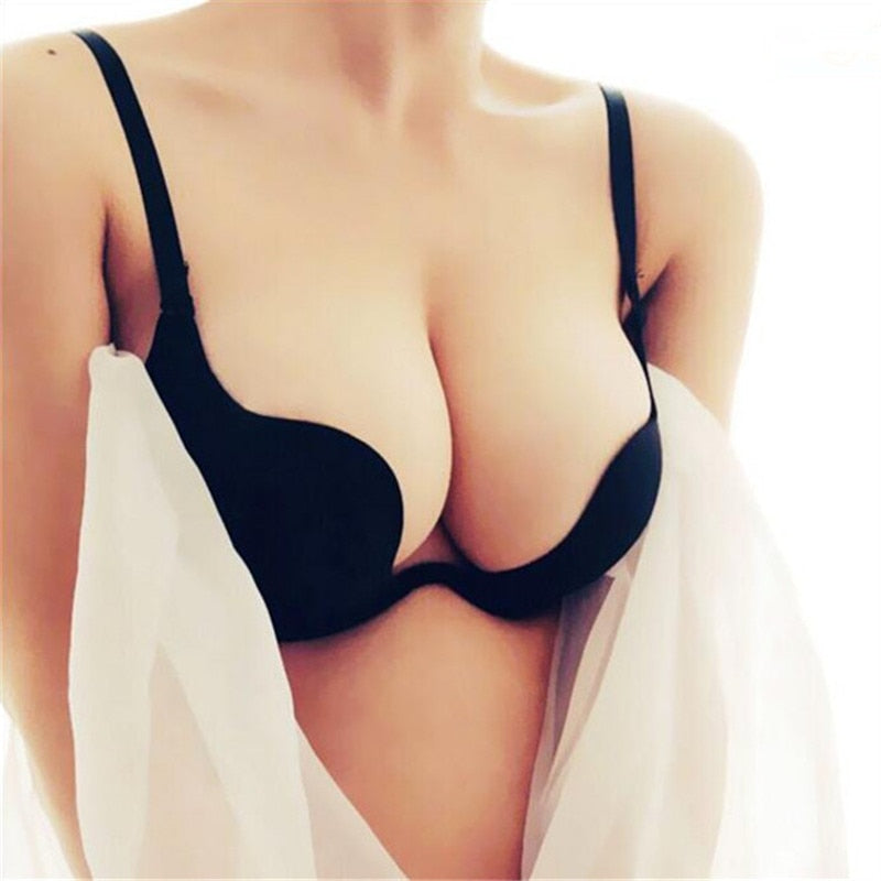 Deep U Push Up Bra