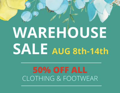 WAREHOUSE SALE Aug 8-14 (on 57th ave)