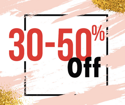 30-50% off entire store