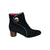 3024-Black Suede Bootie-WATERPROOF