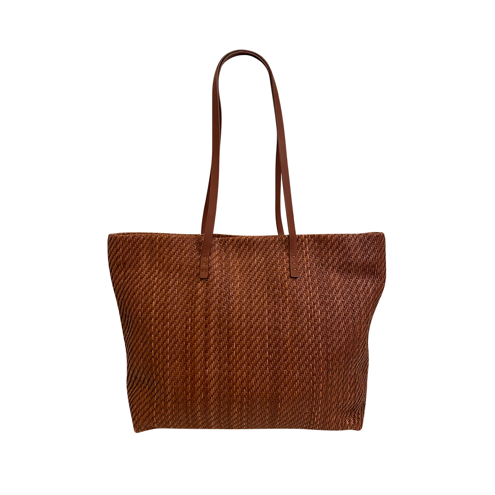 June-FM-Cuero Handwoven Bag