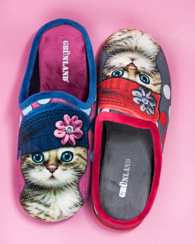 Red Hat  Cat Slippers