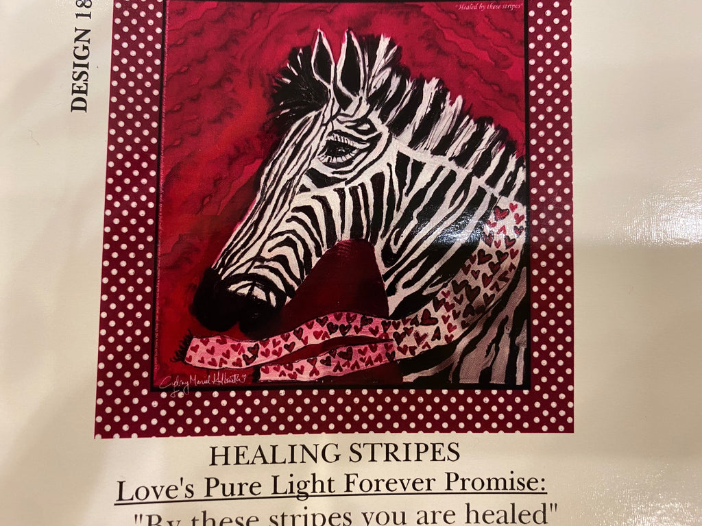 Loves Pure Light scarf-Healing Stripes