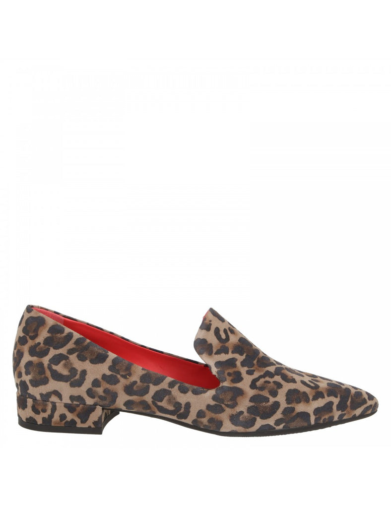 3122-Smoking Slipper In Leopard Print Leather