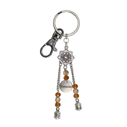 Namaste Lotus Key Chain