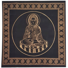 Load image into Gallery viewer, Altar Cloth in Chakra, Buddha, Om, Body Light Spirit, Goddess Moon & Triple Moon Pentacle