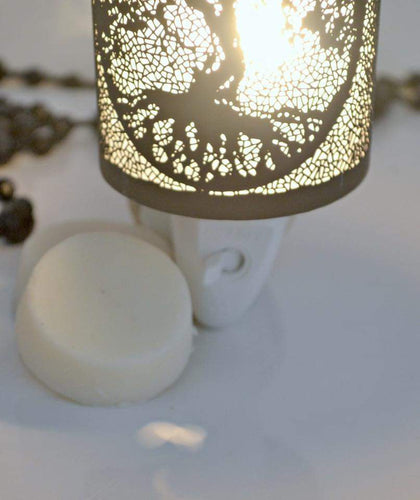 Enchanted Tree Plug In Melt Warmer in White and Black