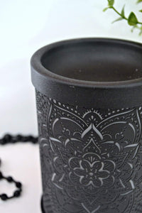 Mandela Flower Electric Warmer Black