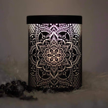 Load image into Gallery viewer, Mandela Flower Electric Warmer Black