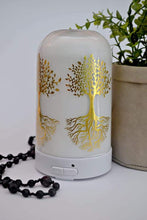 Load image into Gallery viewer, Diffuser Enchanted Tree white glass with gold foil
