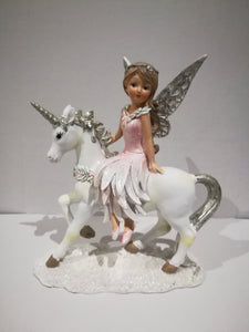 Winter Fairy on Unicorn