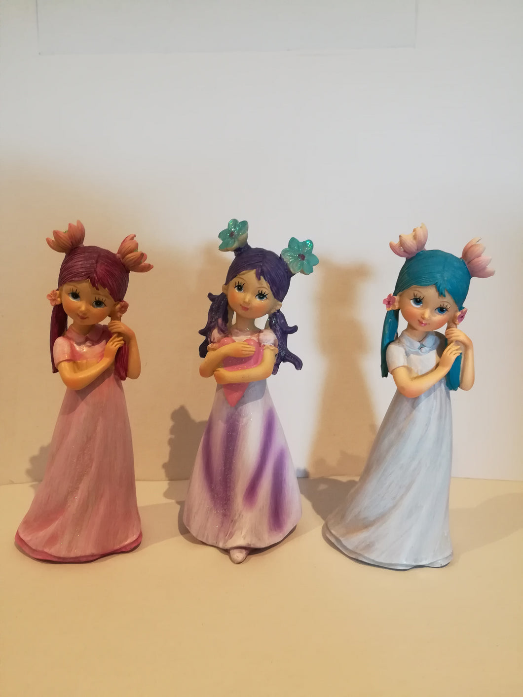 Flower girls set with coloured hair