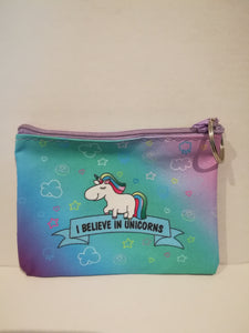 Rainbow Unicorn Purse Keyring