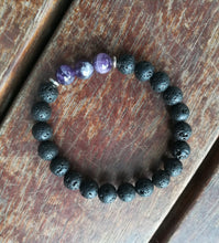 Load image into Gallery viewer, Aromatherapy Lava Bead Bracelet